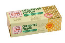 Plaquette--250g---Beurre-Demi-sel---Baratte----Sèvre-&-Belle